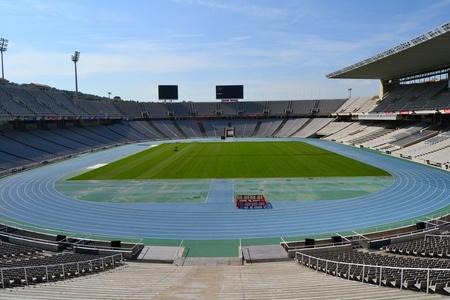 バルセロナ、スペインのバルセロナ、スペイン - 2011 年 9 月 7 日: Estadi オリンピックリュイス 報道画像