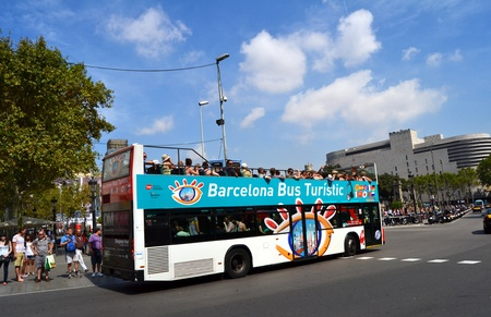 turistic: Barcelona, Spain - September 7th, 2011: Bus Turistic in Barcelona, Spain