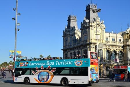 Barcelona, Spain - December 28th, 2011: Bus Touristic in Barcelona, Spain