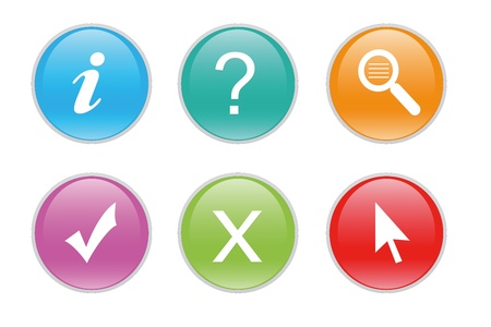Colorful icons for the web with differents symbols Stock Photo - 12906499
