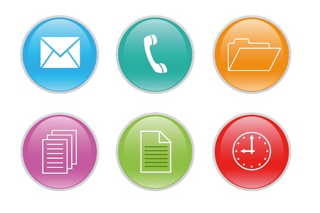 Colorful icons for the web with differents symbols Stock Photo - 13171844