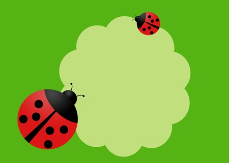Happy card with two lady bugs photo