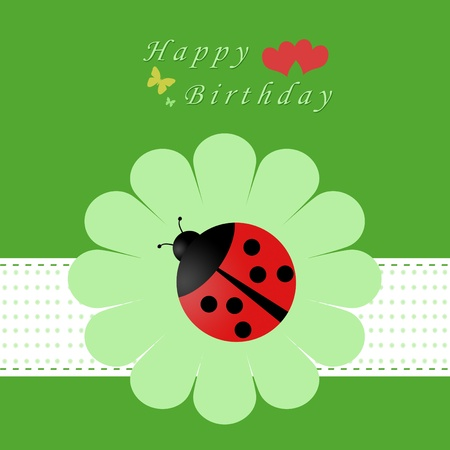 Colorful card for happy birthday Standard-Bild