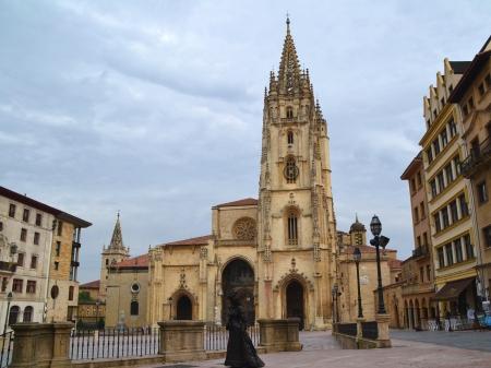 オビエド、アストゥリアス、スペインの大聖堂 写真素材