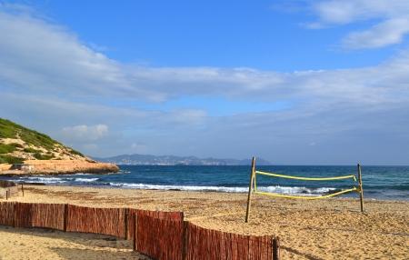 Es Cavallet beach in Ibiza, Spain