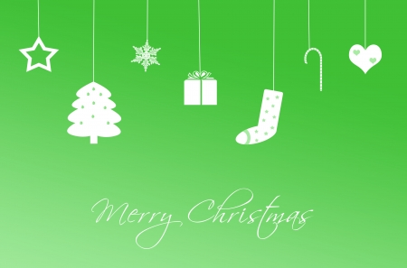 Funny Christmas Card in green color photo