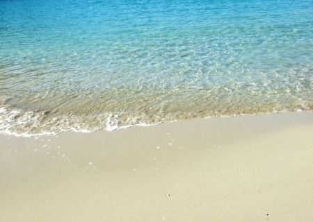 seaview: View of turquoise water in the beach