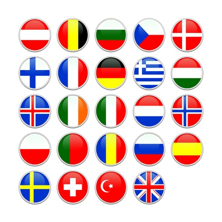 European flag icons photo