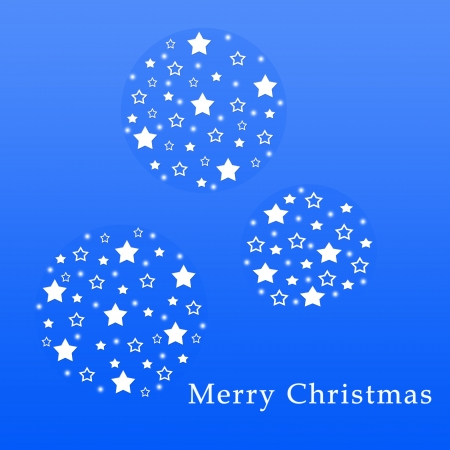 Christmas greeting card with balls of stars photo