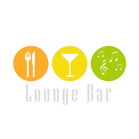 Colorful logo image to a lounge bar photo