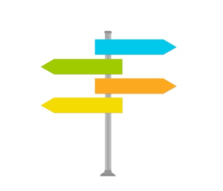 indicate: Signal to indicate the directions in various colors