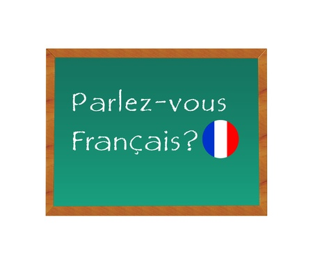 Blackboard with the text Do you speak French in french