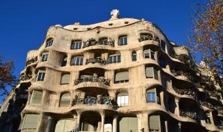 View of La Pedrera, Barcelona - Spain Imagens