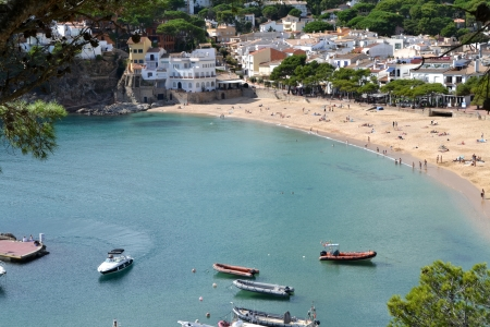 Landscape of the beach of Llafranc, Catalonia, Spain