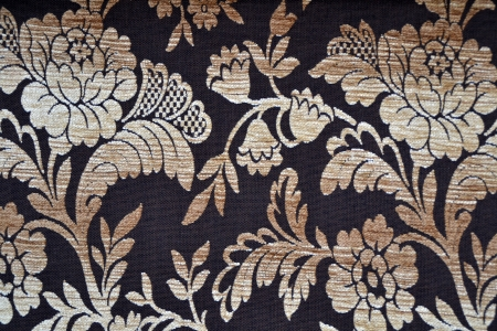 upholsterer: Floral texture background textile in brown colors