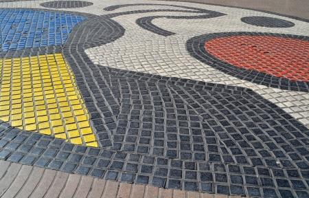 Mosaic in Barcelona, Spain