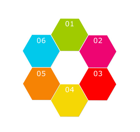 Abstract design with hexagons for web, marketing or presentations photo