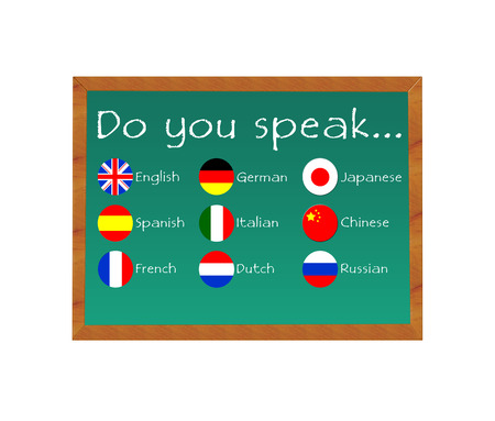 Blackboard with text Do you speak for some languages photo