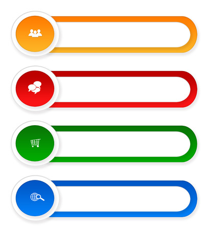Colorful rounded buttons for Web page menu, marketing or presentations photo