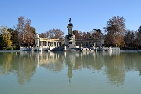 madrid  spain: El Retiro Park in Madrid, Spain