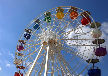 big wheel: Big wheel at the amusement park Tibidabo in Barcelona, Spain