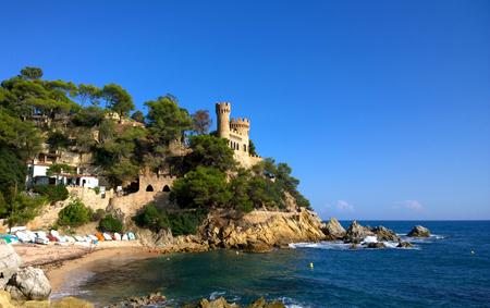 Castle in Lloret de Mar, Girona, Spain