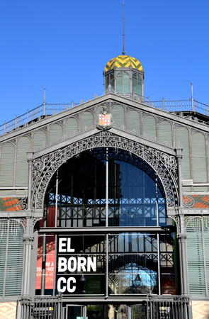 mercat: BARCELONA, SPAIN - DECEMBER 28: Mercat del Born in Barcelona, Spain on December 28, 2014. This old market has been renovated and now it is a public cultural center with exhibitions. Editorial