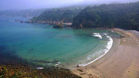 Landscape of the Beach of Cadavedo in Asturias - Spain