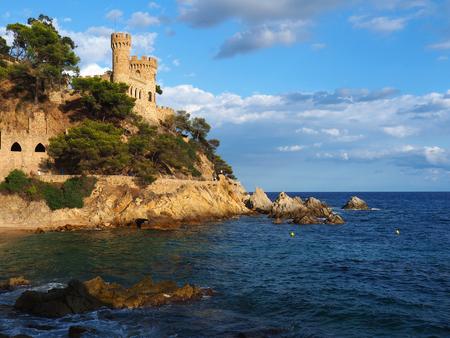 View of the castle in Lloret de Mar, Girona, Spain