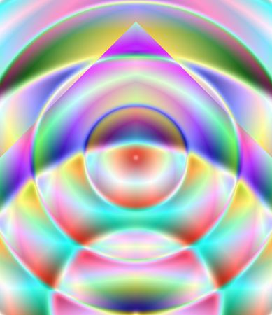 centric: Coloured triangle and circles - illustration