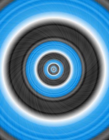 centric: Blue nad black abstract circle - illustration