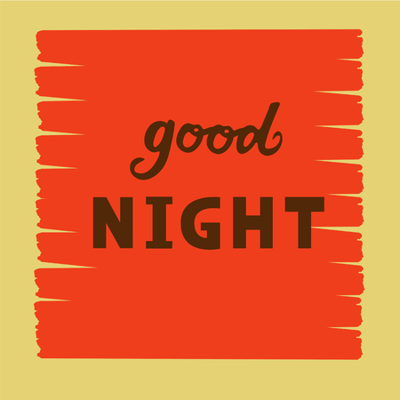 Vector illustration of good night  text flyer, banner, greeting card. Illustration