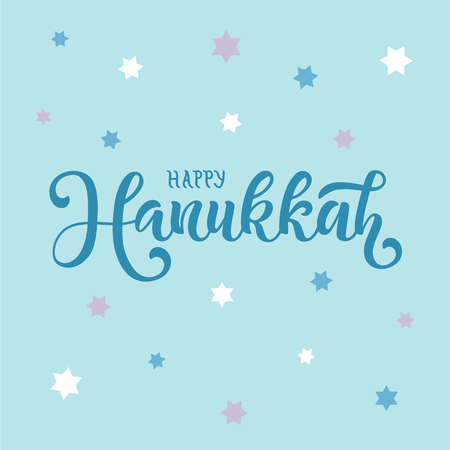 Vector illustration of Happy Hanukkah for typography poster, calendar, greeting card or postcard.