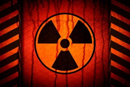 American and European hazard symbols. Danger labels Stock Photo