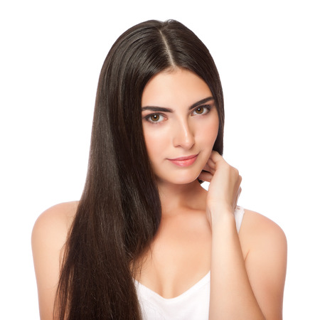 The beautiful girl with a make-up in Spa salon after cosmetic procedures
