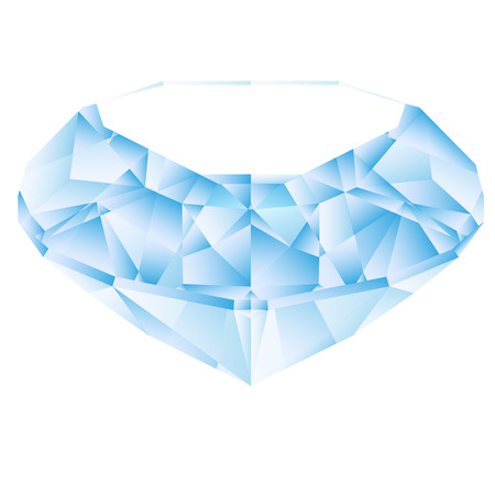 blue diamond: Vector of blue diamond on a white background. Illustration