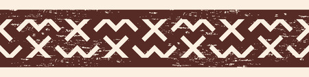 hercules: Vector Greek ornament. Greek style frame ornament. Brown pattern on a beige background.