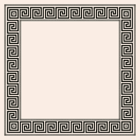 hercules: Greek style seamless ornament. Black pattern on a beige background. EPS 10