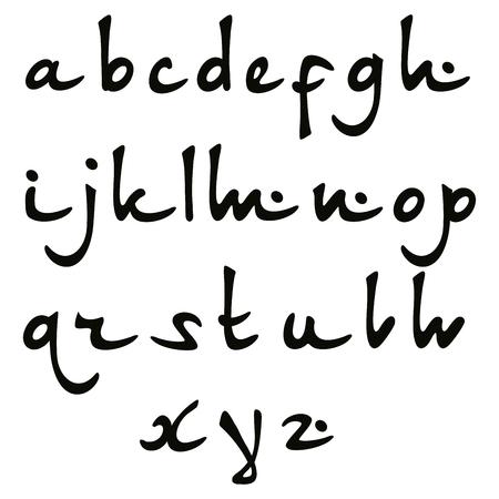 ideogram: Vector Oriental font hieroglyph. Stylized English alphabet Illustration