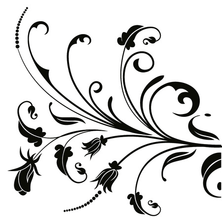 vector floral pattern frame and brown branch with leaves on rh 123rf com vector floral pattern black and white vector floral pattern png