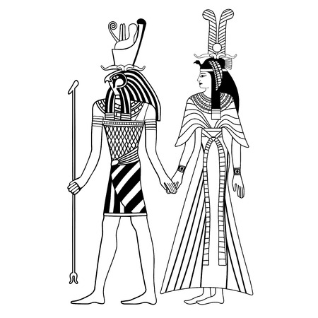 Egyptian national drawing. Illustration