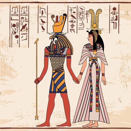 Egyptian national drawing. Illustration