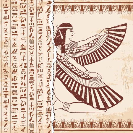 Egyptian national drawing. Stock Photo