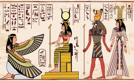 hieroglyphs: Egyptian national drawing. Illustration