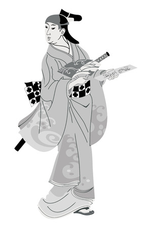 Japanese woman in national dress.