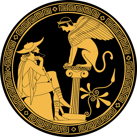 Vector greca disegno.