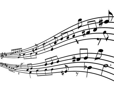 musical score: Background with notes.