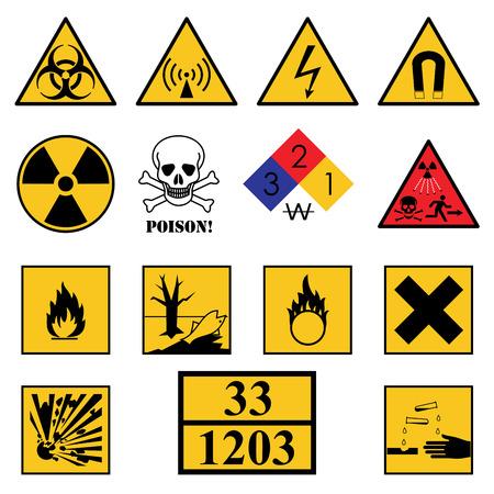 Warning Hazard Signs Illustration