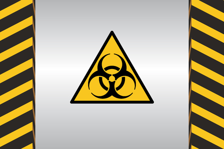 high voltage: Warning Hazard Signs Illustration