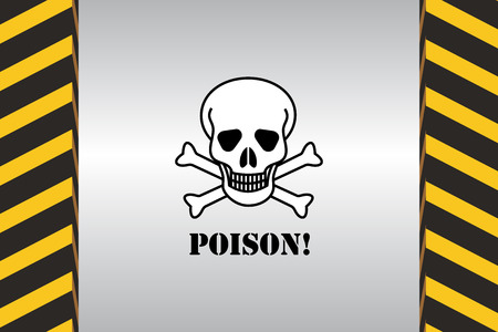 chemical weapon sign: Warning Hazard Signs Illustration